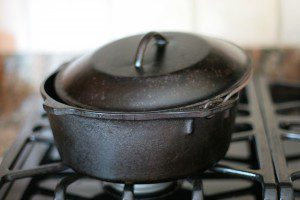 After: Dan's seasoned cast iron Dutch oven is ready to be cooked in.
