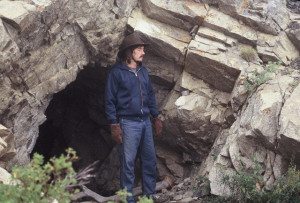 A much younger Leon at a silver mine in the Beartooth Mountains in Montana.