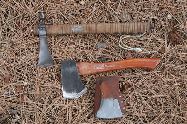 The pipe tomahawk on top could be useful, but the Plumb hatchet below it is the better tool.
