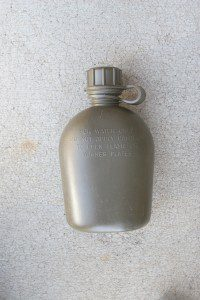 This quart military surplus canteen is cheap and rugged.