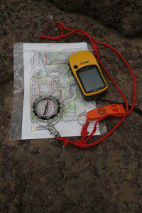 The triad of wilderness travel is the GPS, map and compass. Don't take a GPS without a map and compass, and make sure you have the right map along.
