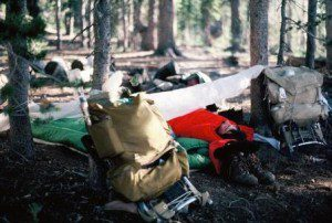This 1977 photo from Lassen National Forest in northern California shows my gear was pretty sketchy. I did invest in a quality knife, sleeping bag and boots.