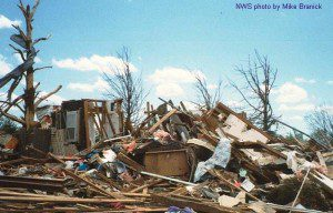 A tornado could destroy roads and bridges and strand people on the disaster scene.