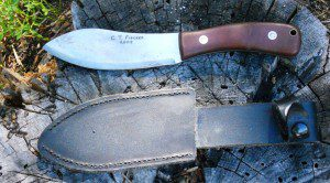 he C.T. Fisher Nessmuk knife comes shaving-sharp with a quality sheath.