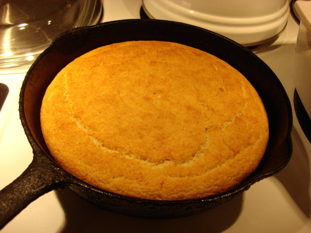 Skillet cornbread is an ideal accompaniment to just about anything ...