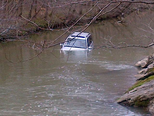 Water under one foot in depth can sweep a car off the road.