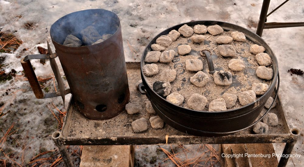 Dutch oven cooking is an efficient way to cook food for large groups of people.