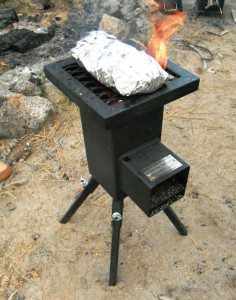 Foils wraps are easily cooked on the Deadwood Biomass Stove. (Photos by Leon Pantenburg)