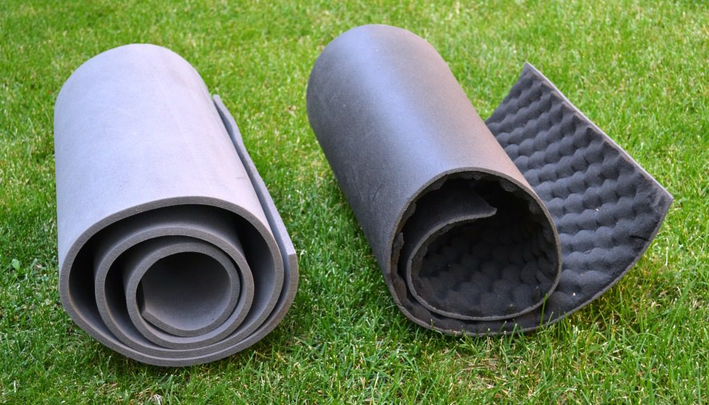 The closed cell ensulite pad on the left will provide good insulation while the egg & Choose the best sleeping pad for camping or backpacking |