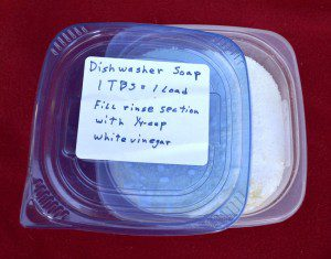 This do-it-yourself dishwasher soap is inexpensive, easy to make and very effective. You can make it for pennies! (Pantenburg photo)