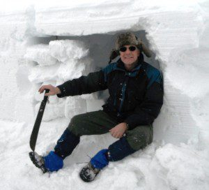 My trusty medium weight wool pants kept me warm and dry while building a snow cave during a winter outing.