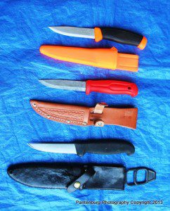 These are several of my favorite Mora-style knives.