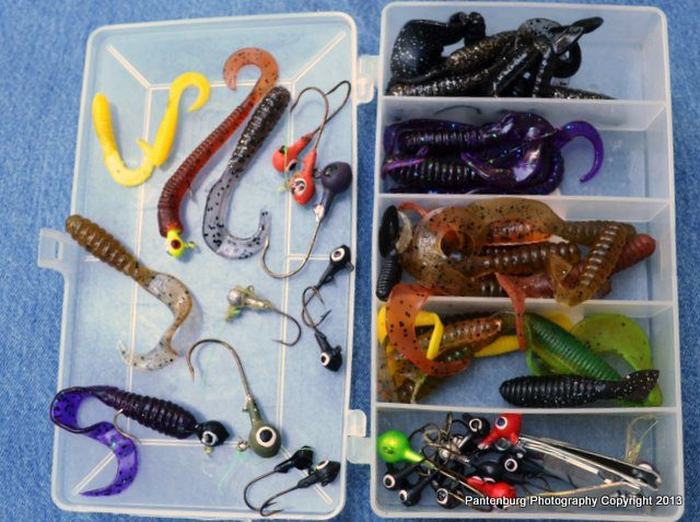 This collection of jigs is all I need for fishing for smallmouth bass in Central Oregon, but it won't generally work for catfish.