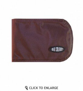 The Big Skinny Curve is a super thin wallet that can carry much of what you need, along with minimal survival gear.