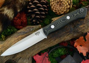 I'm very pleased with my Bark River Aurora, a high end bushcraft knife.