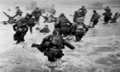 Private Bob Shotwell of La Pine, OR landed in the first wave on Omaha Beach.