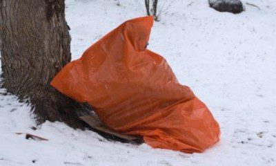 A 55-gallon trash bag can make a quick, effective emergency shelter.