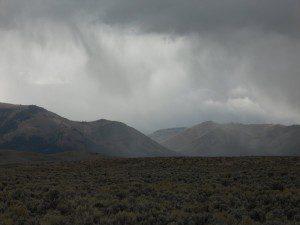 mountain storm desert