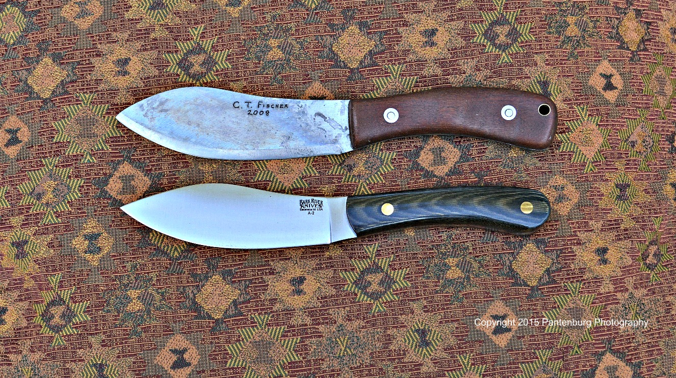 C.T. Fischer and Bark River Nessmuk knives