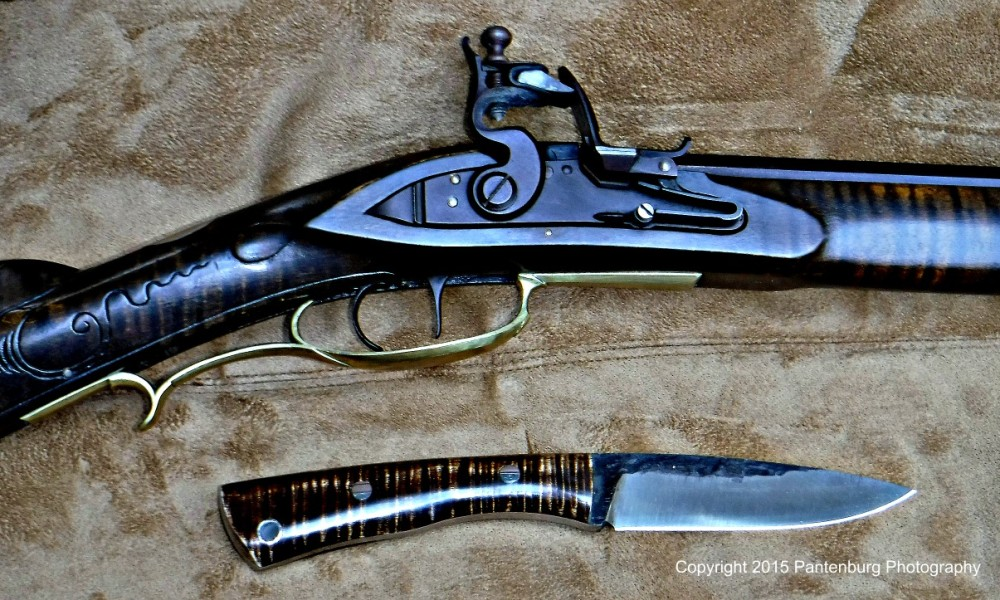 Lon Humphrey knife with flintlock