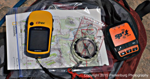 SPOt with map and compass