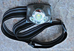 This Black Diamond Spot headlamp worked well when I needed to field dress a deer in the pitch darkness.
