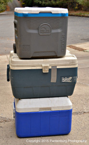 My cooler collection came from years of flying venison home from Mississippi hunts.