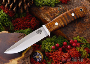 This Snowy River came with a curly maple handle.