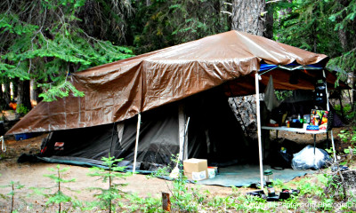 Many shelters are improvised from whatever materials are available.