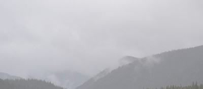 Freezing fog and low visibility add to already hazardous driving conditions.