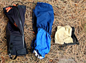 These three different style of gaiters are all useful in different situations.