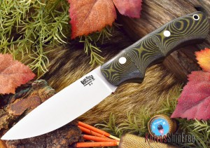 The Bark River Trakker Companion comes in a variety of handle materials. This is black and green micarta. (KnivesShipFree.com photo)
