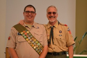 Sean Jacox honored me with an Eagle Mentor Pin when he achieved the highest rank in scouting.