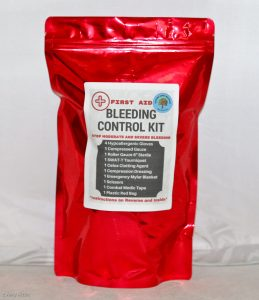 This Bleeding Control Kit contains the latest, most up-to-date tools for stopping bleeding.