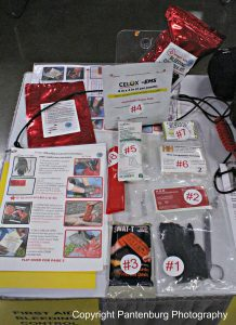 The Doom and Bloom Bleeding Control kit can help stop traumatic blood loss.