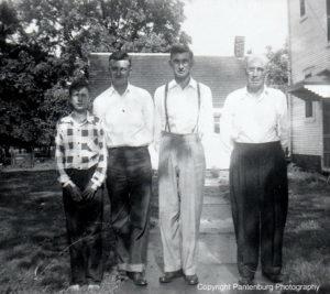Eldon, Vincent, Fritz, Leo in 1940s