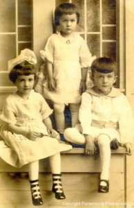 My dad and his sisters, Agatha (left) and Edna, sometime in the 1920s.