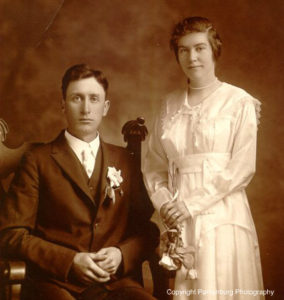 My grandparents, Peter and Harriet Pantenburg on their wedding day in June, 1917