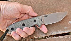 The choil on this ESEE-3 blade is not necessary or useful.