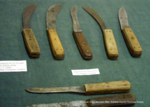 These authentic trade knives are on display at the Museum of the Mountain Man.