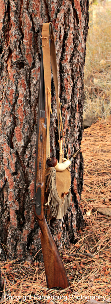 I like looking at authentic, traditional black powder firearms in natural settings.
