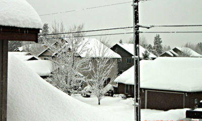 Snow accumulation on roofs can present hazards.