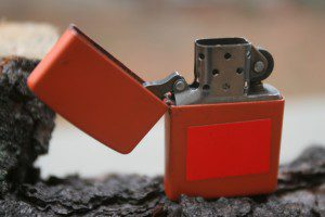 The fuel supply of a Zippo-style lighter tends to dry out quickly,