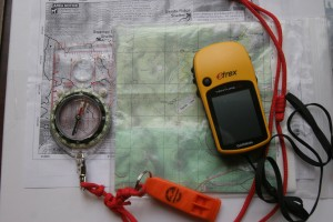 A GPS makes a nice addition, but NEVER take a GPS and depend on it for navigation without a map and compass.