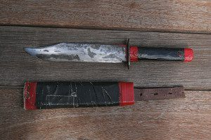 This knife and The knife and cardboard sheath were made 44 years ago. The sheath still does its job quite well!