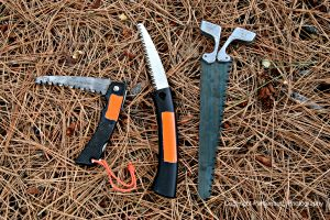 Any of these lightweight saws are a better choice than a saw blade spine.