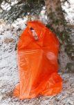 emergency shelter, plastic bags