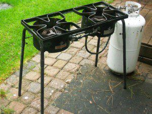 This Camp Chef double burner propane stove has served me well through nearly 20 years of hard use.