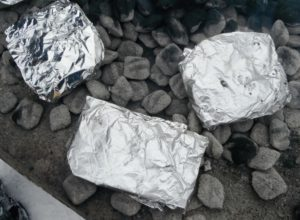 Foil wraps are a great way to start out beginners in off grid cooking.
