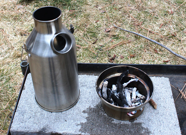 Here is a Trekker completely disassembled. With no moving parts to break or get jammed, the Kelly Kettle is extremely reliable.